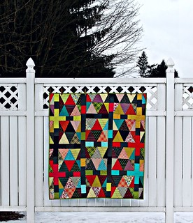 Chicopee Triangle & Colorblock Quilt