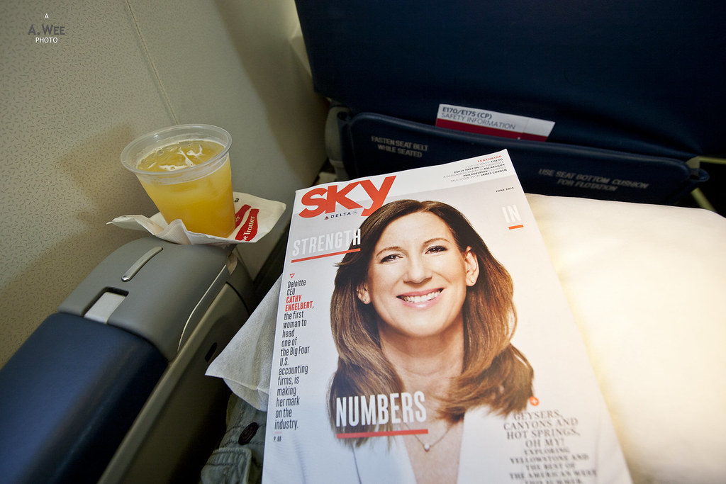 Delta Sky Magazine and Orange Juice