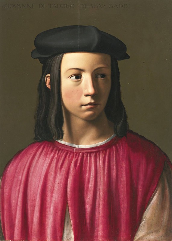 Florentine School, 16th century - Portrait Of Giovanni Gaddi (1493-1542), Head And Shoulders, Wearing a Black Cap