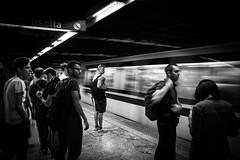 Waiting Metro.