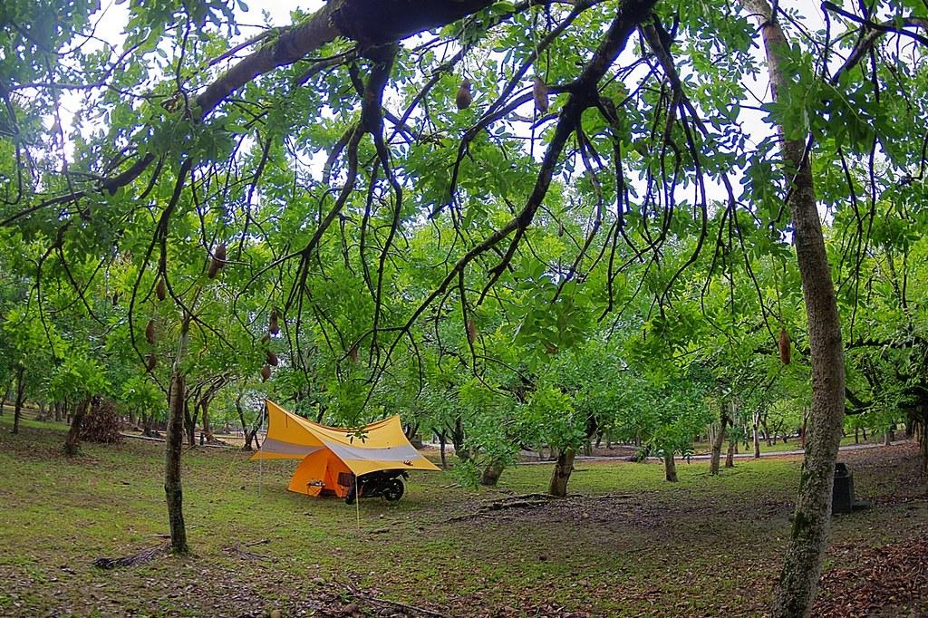 曾文水庫湖畔-湖濱公園 單人+機車露營 照片分享