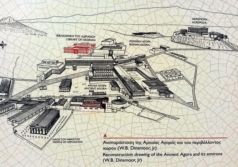 Mapa de la antigua Atenas
