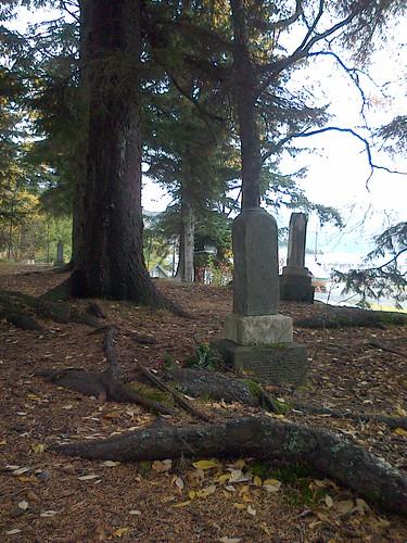 Old hidden graveyard along the coast in Haines, Alaska