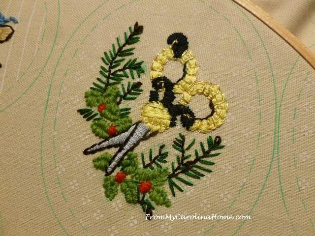 Slow Stitching Week 5 - scissors