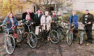 Для соцпрацівників купили велосипеди