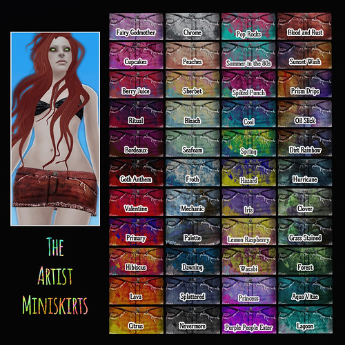 Devae. Attire / Artist Miniskirts bajillion colors