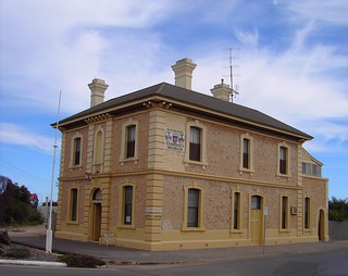 Kadina Bank Museum. Now closed. A good example of a South Australian two storey limestone bank building.