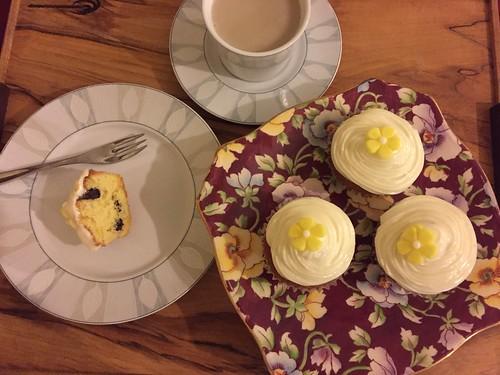 Simple, but elegant lemon and chocolate cupcakes.