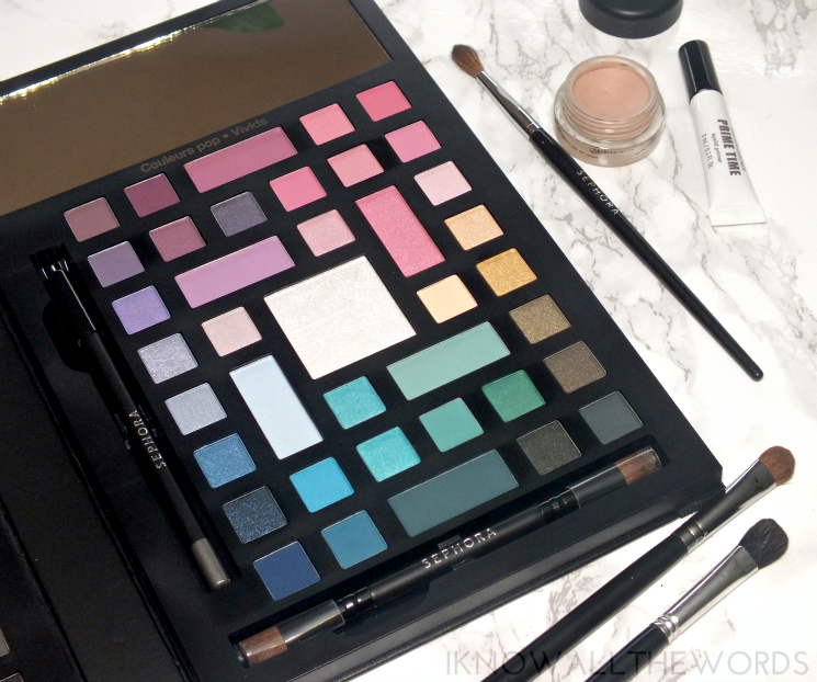 Sephora Collection Colour Wonderland Neutral & Vivid Eyeshadow Palette- vivid side (2)