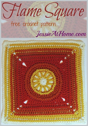 Flame Square - free crochet pattern by Jessie At Home