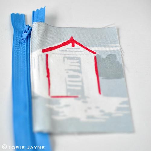 Boys Handmade folded Zip Wallet tutorial 1