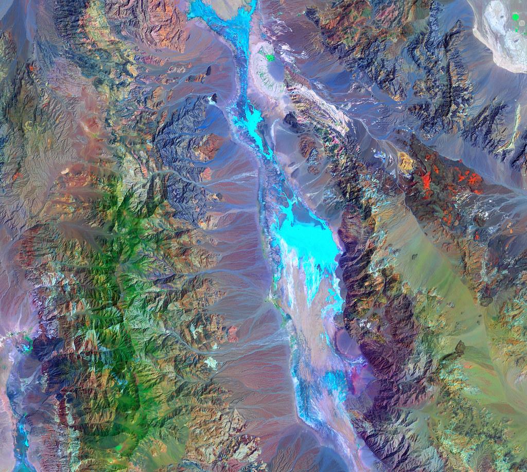 Landsat image of Death Valley, California