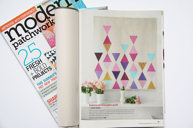 Balanced triangles quilt_modern patchwork