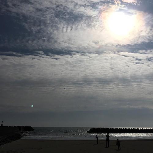 海。 風はあるけど暖かいな〜