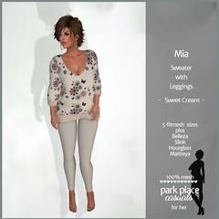 [PP Casuals] Mia Fall Sweater and Leggings - Sweet Cream