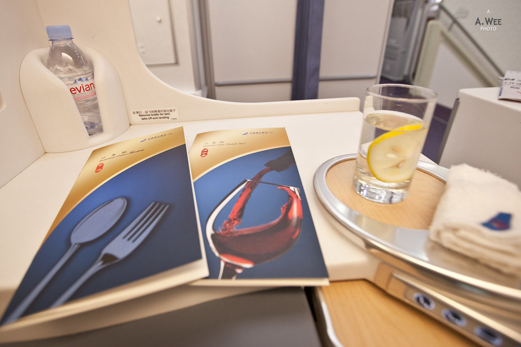 Inflight dining menu