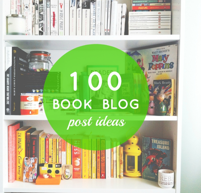 Ideas for posts for book bloggers