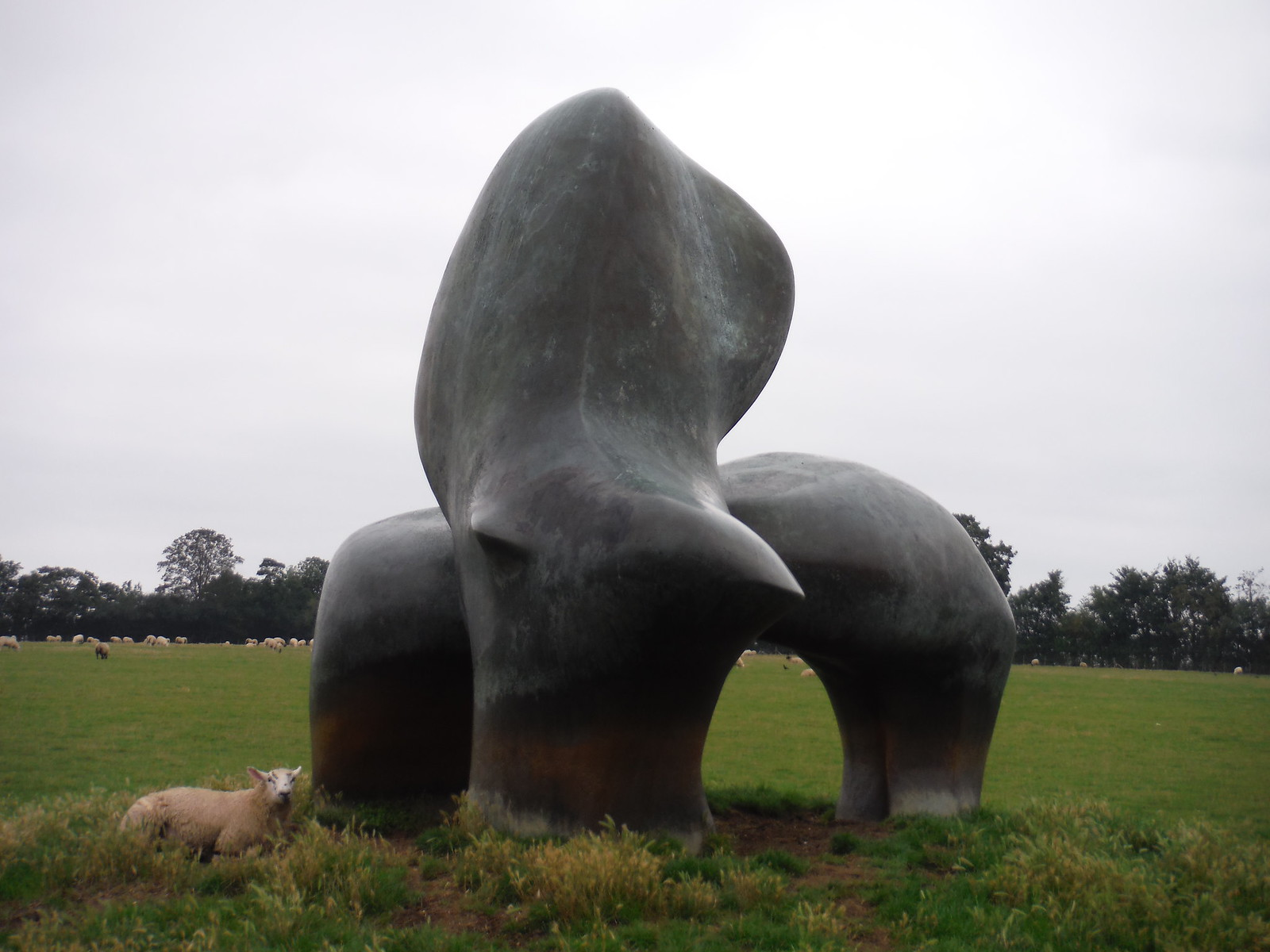 Sheep Piece (1971-72) [III} SWC Walk 164 Roydon to Sawbridgeworth via Henry Moore Foundation