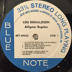 LOU DONALDSON:ALLIGATOR BOGALOO(LABEL SIDE-A)