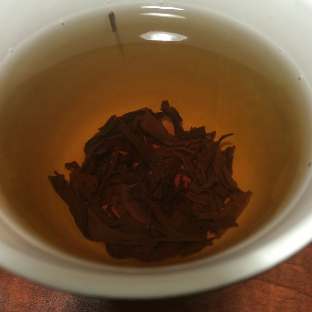 Some delightful black tea. The leaves unfurl beautifully.
