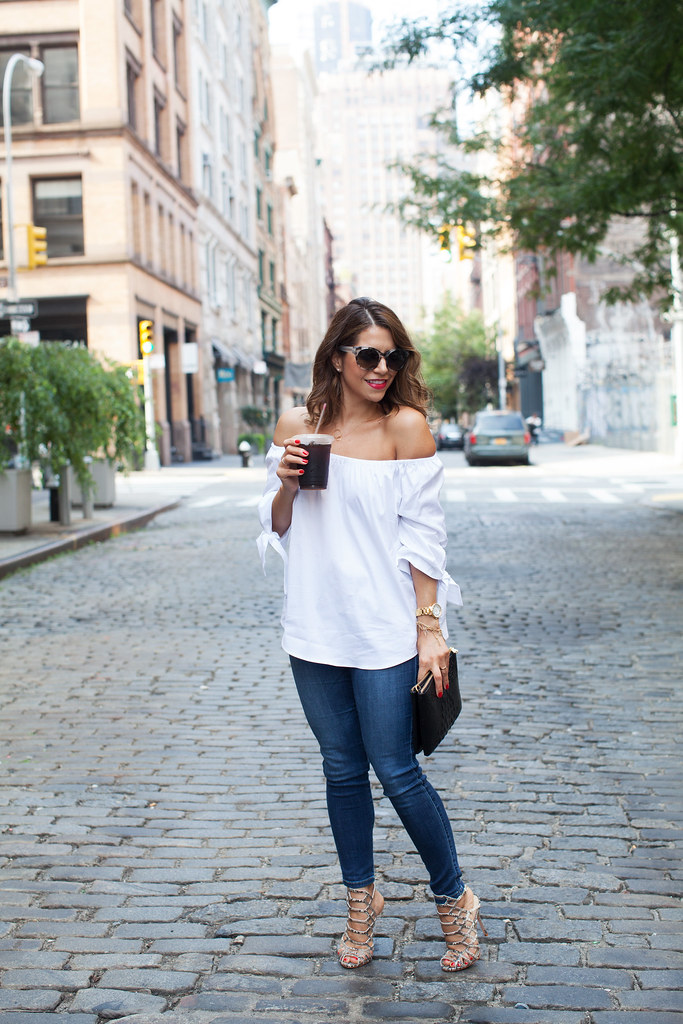 Weekend Casual |  Off the Shoulder Top