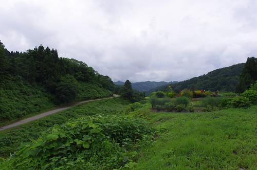 坪山峠AS通過後の風景