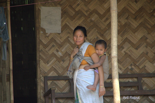 Deori Tribal Mother and Child, Majul Island