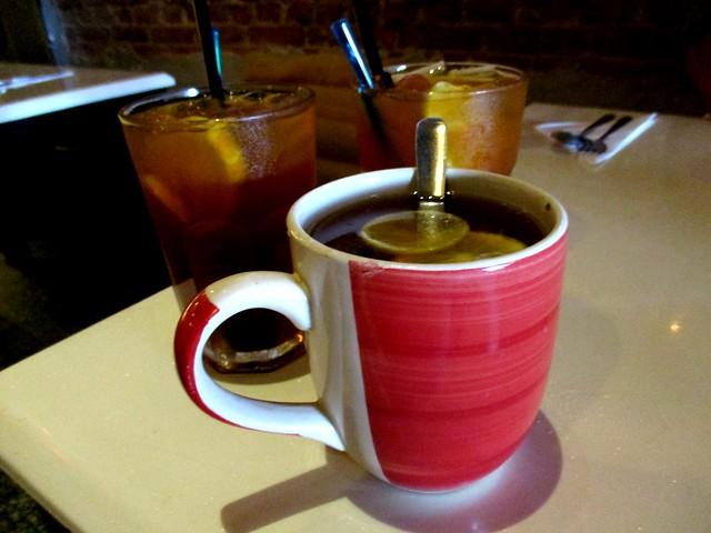 Lemon tea, hot & iced