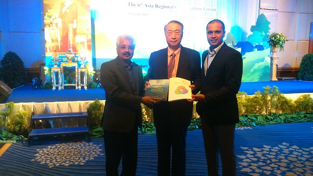 Water Book being presented to Zhang Xinsheng, President IUCN, Global, at Bangkok.JPG