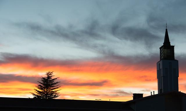 Prescott Sunset Over LDS Church
