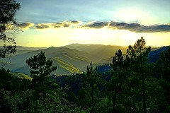 #sunset on the #cevennes #landscape - Photo of Vebron