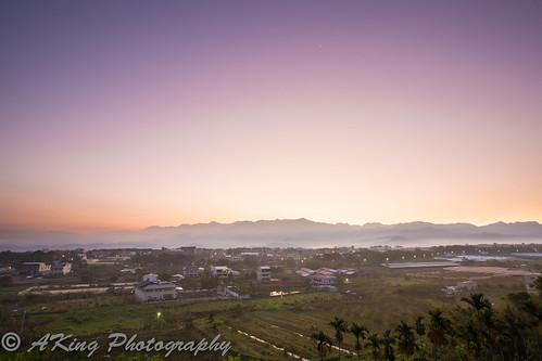 light sun sunshine sunrise landscape countryside scenery taiwan taichung 台灣 台中 新社 日出