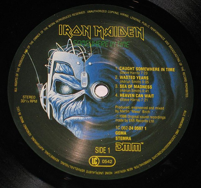 "IRON MAIDEN SOMEWHERE IN TIME Germany DMM 12"" Vinyl LP"
