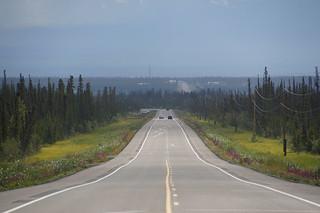 002 Glenn Highway in de buurt van Glennallen