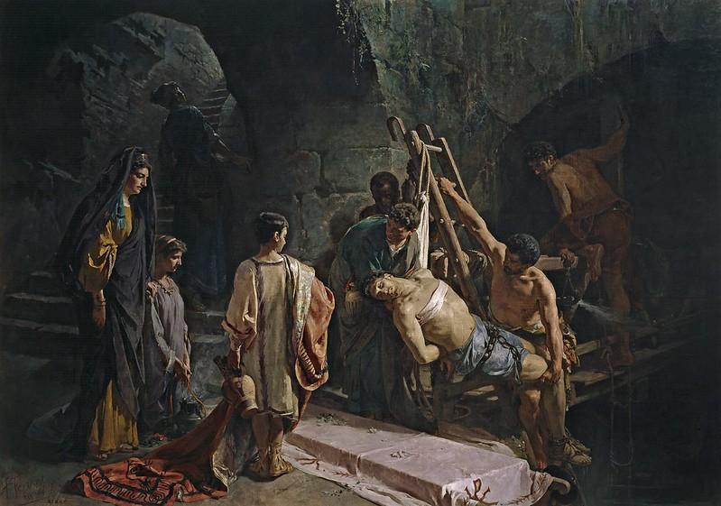 Alejandro Ferrant y Fischermans - S. Sebastiano recuperato dalla cloaca massima (1877)