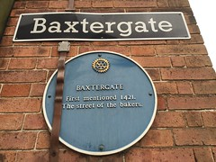 Photo of Baxtergate blue plaque