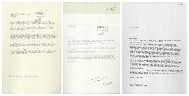 Film Censor's Office Correspondence - Monty Python's Flying Circus