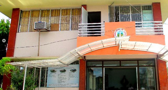 The newly-rehabilitated La Paz Municipal Hall - June 2015