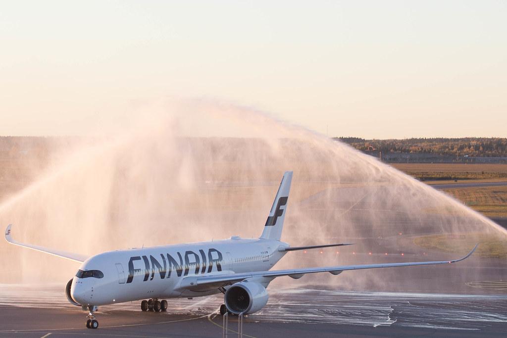 First Finnair A350 in HEL