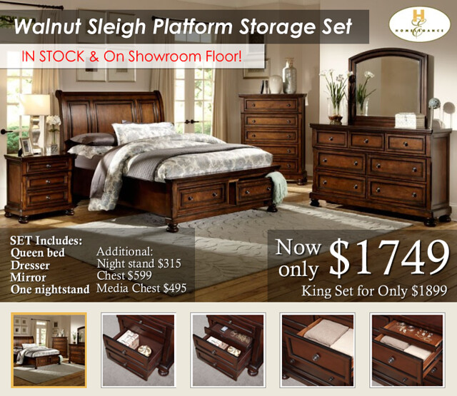 Walnut Sleigh New Image (In Stock)
