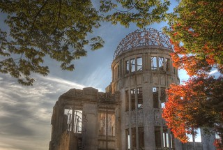 A-Bomb Dome at Hiroshima in early evening on OCT 28, 2015 (11)