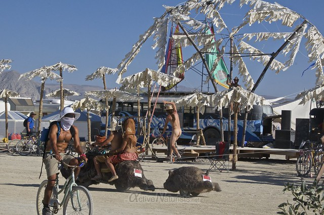 naturist 0000 Burning Man 2015, Black Rock City, Nevada, USA