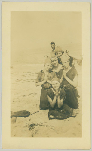 Group at the beach