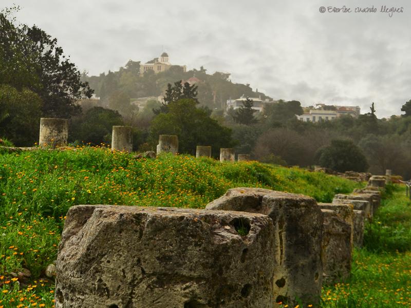 Vista del Ágora griega