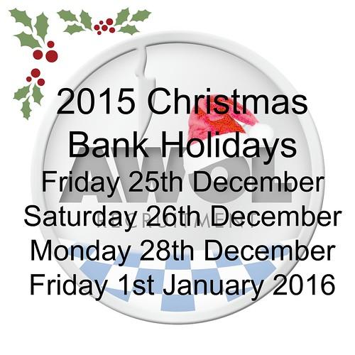 Christmas bank holidays 2015