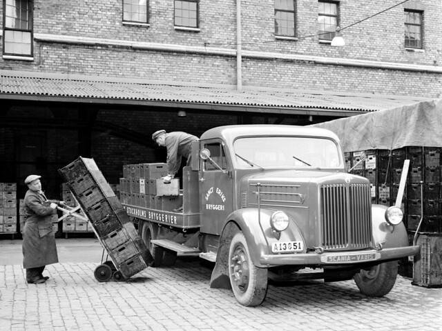Бортовой грузовик Scania-Vabis L43. 1954 год