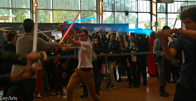 combat de sabre laser