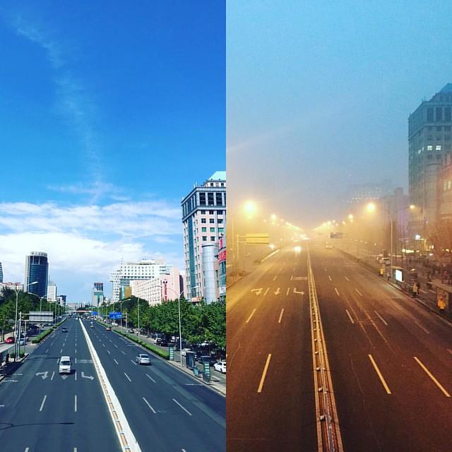 左边是九月,右边是今天