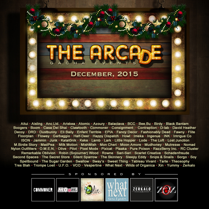 The Arcade - December 2015 Gacha Event Poster