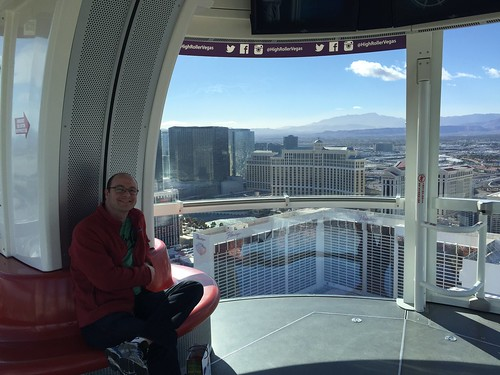 Dan on the High Roller.